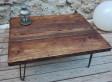 Table basse design ton foncé
